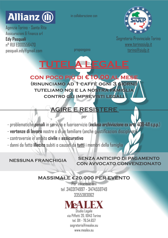 MeAlex Studio Legale / SIULP flyer